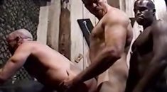Muscle black hunk cocksucked and assfucked